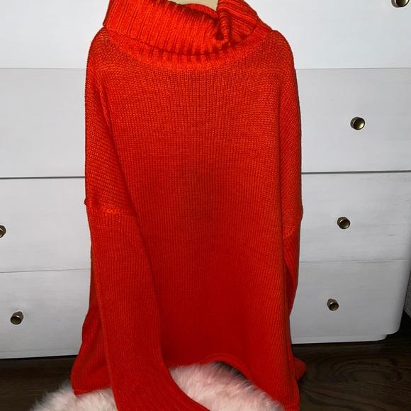 Orangish/Red turtleneck sweater